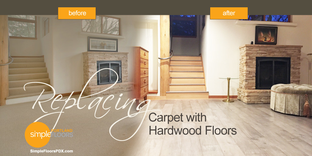 Replacing Carpet With Hardwood Floors Before After