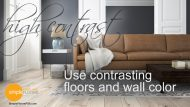Use Contrasting Hardwood Floors and Wall Color