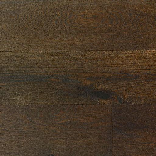 Olive Brown Handscraped French White Oak Engineered Wood Flooring